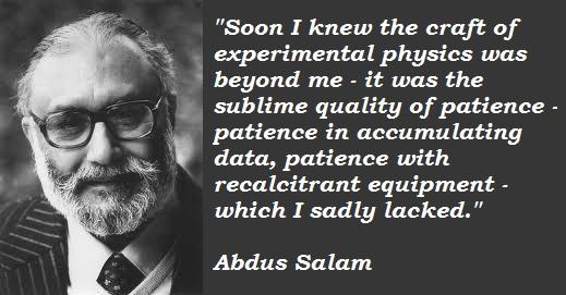 Abdus Salam's quote