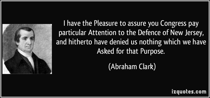 Abraham Clark's quote