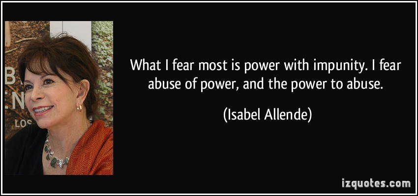 Abuse Of Power quote #1