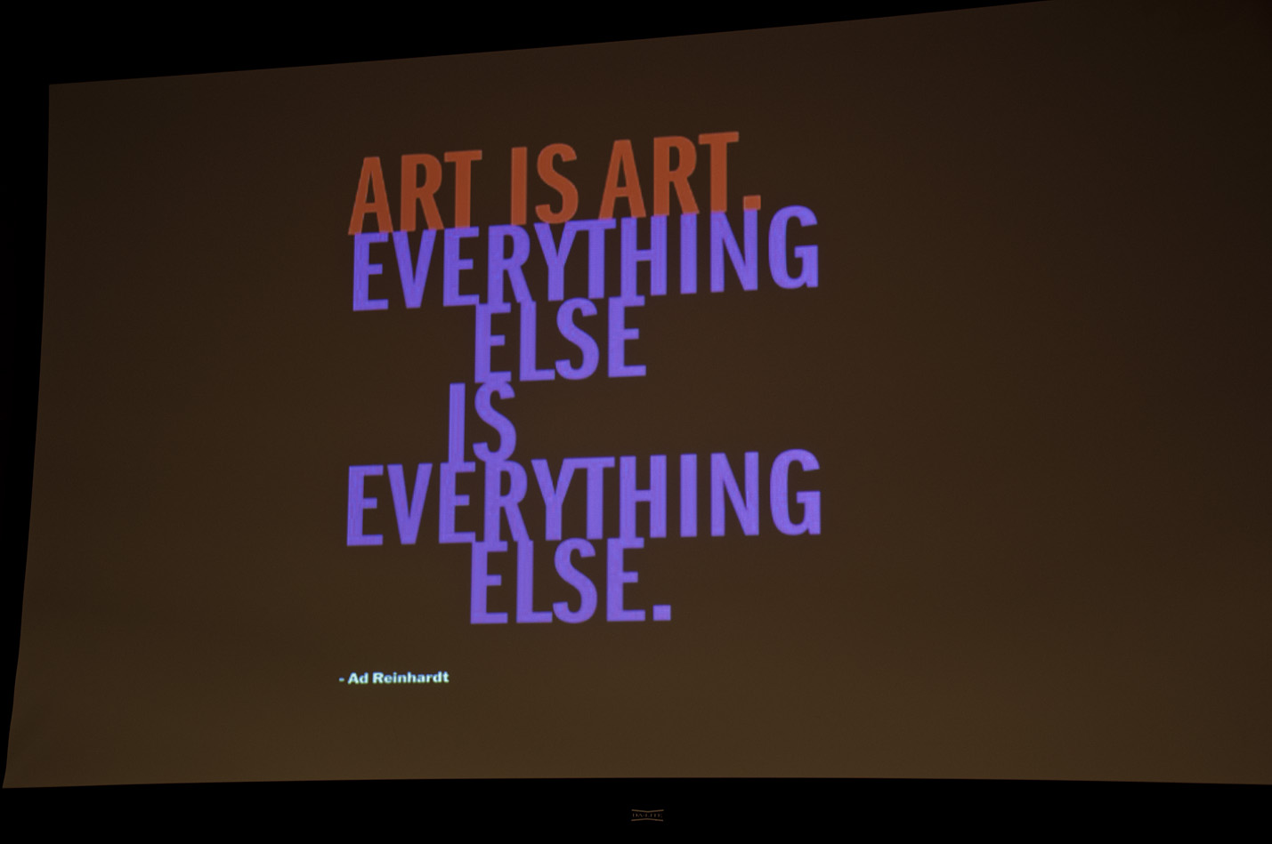 Ad Reinhardt's quote #2