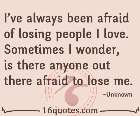 Afraid quote #1