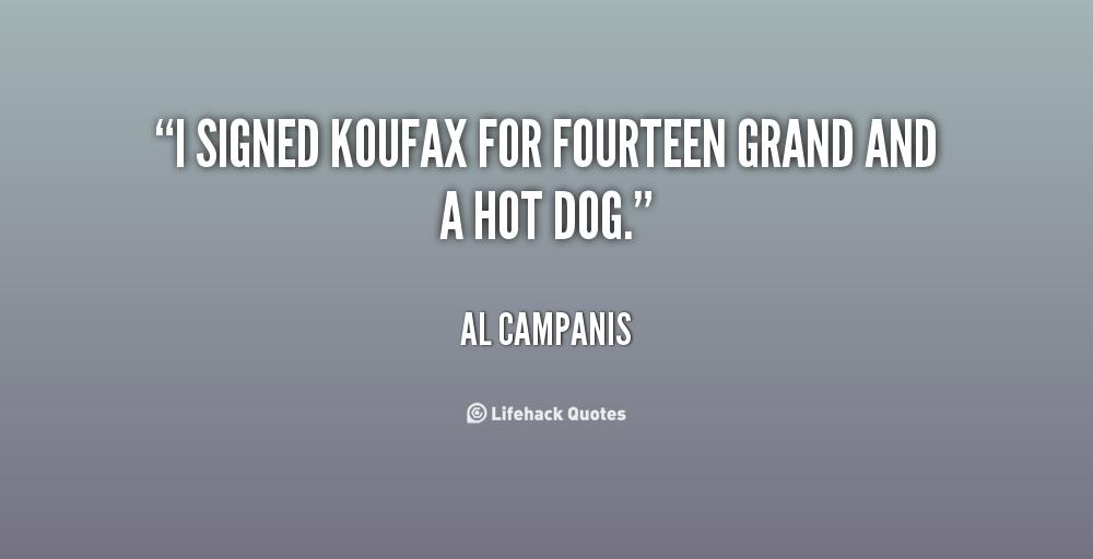 Al Campanis's quote #1