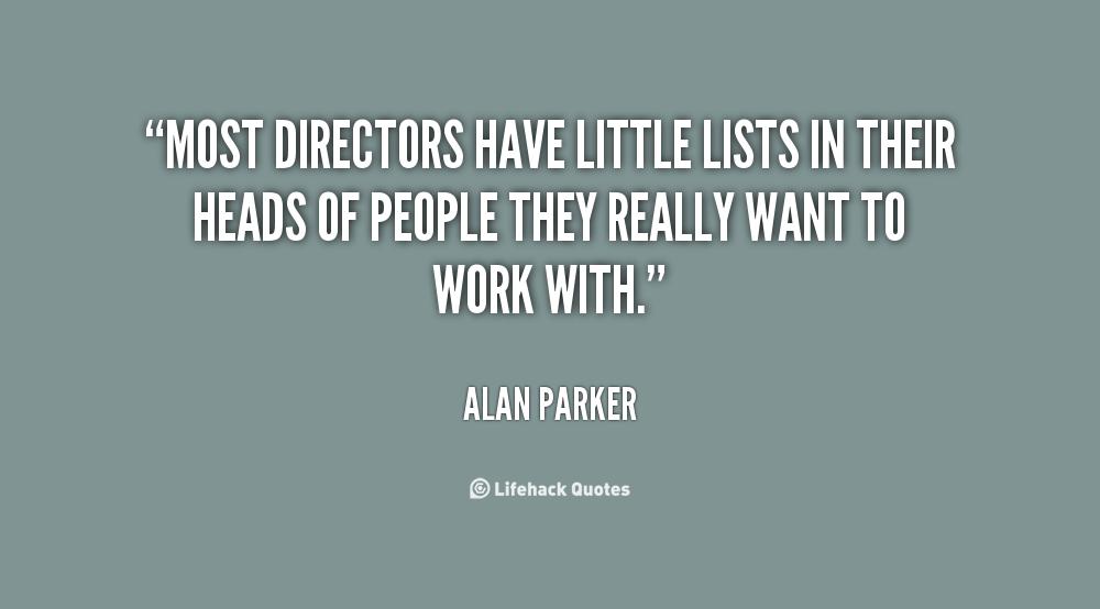 Alan Parker's quote #1
