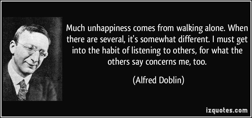 Alfred Doblin's quote