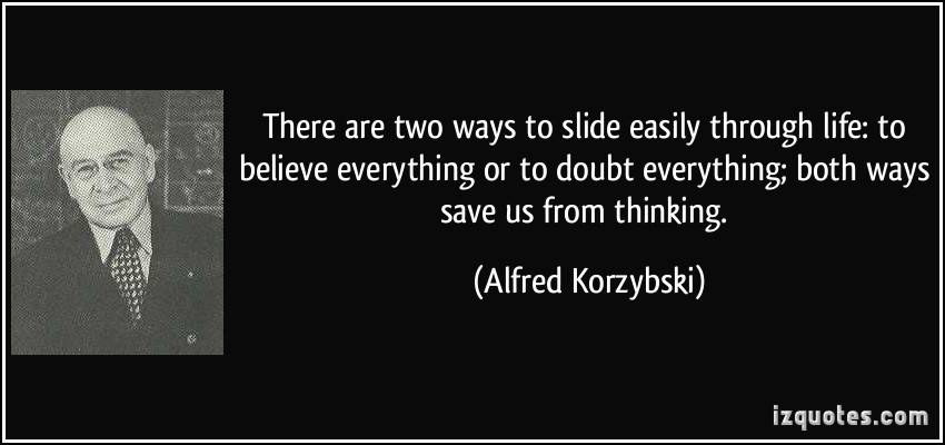 Alfred Korzybski's quote #1