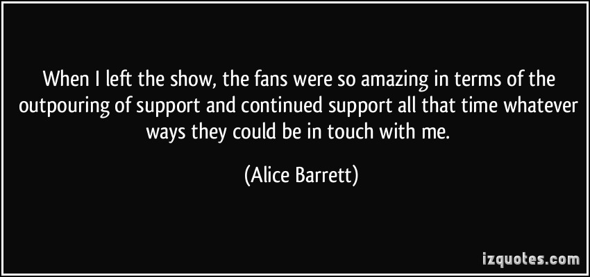 Alice Barrett's quote #4
