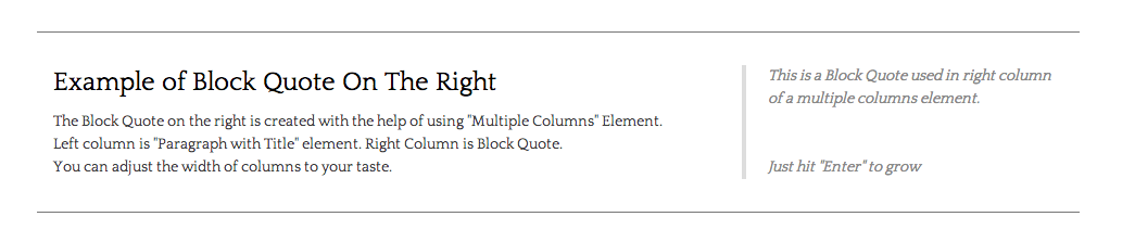 Aligned quote #1