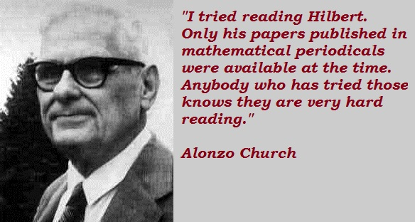 Alonzo Church's quote #1
