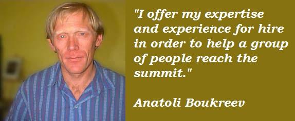 Anatoli Boukreev's quote