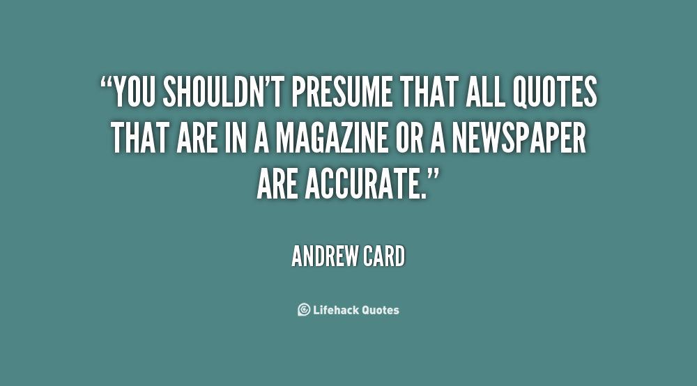 Andrew Card's quote #4