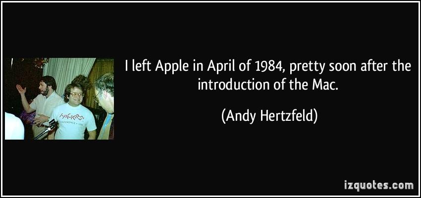 Andy Hertzfeld's quote #4