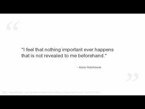 Anne Hutchinson's quote