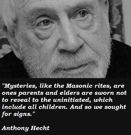 Anthony Hecht's quote #2