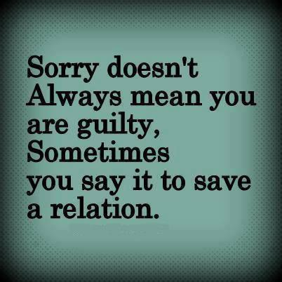 Apologizing quote
