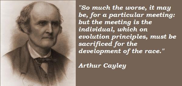 Arthur Cayley's quote