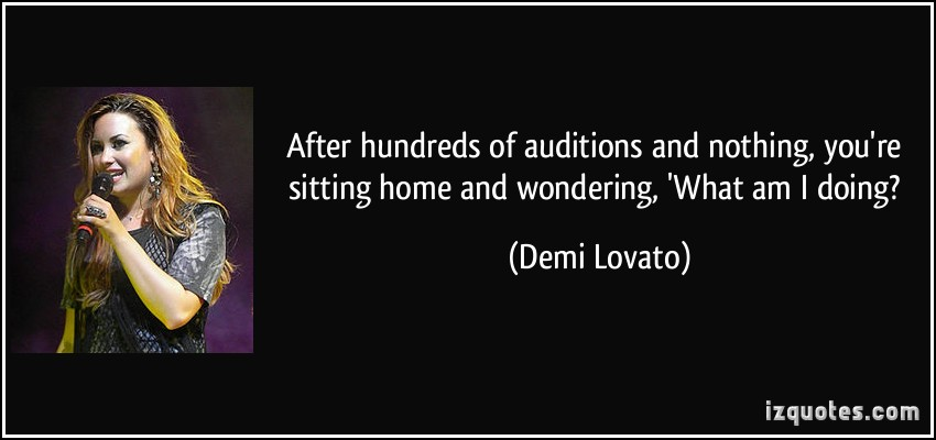 Auditions quote #3