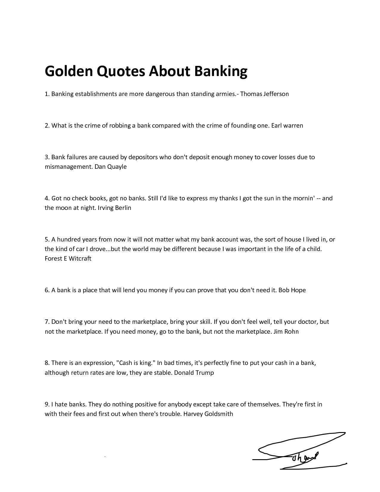 Bank quote #5