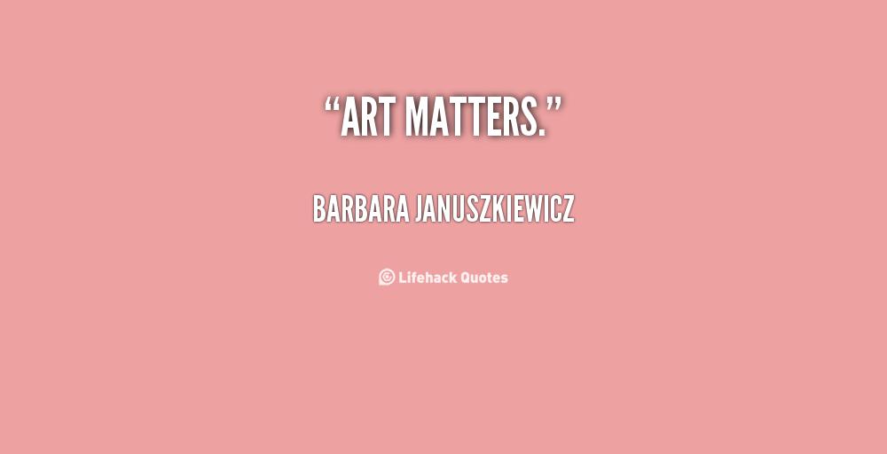 Barbara Januszkiewicz's quote