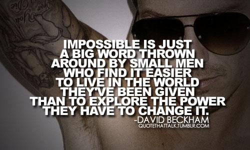 Beckham quote #1
