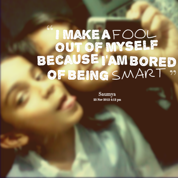 Being Smart quote #1