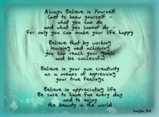 Believe In Yourself quote #2