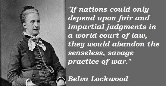 Belva Lockwood's quote #1