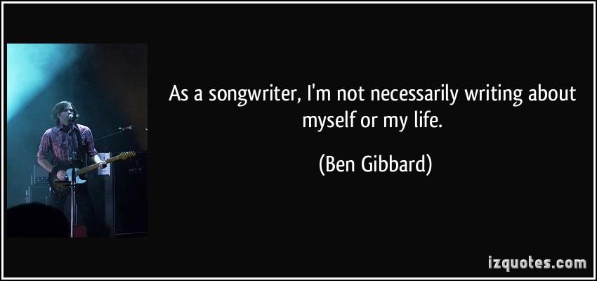 Ben Gibbard's quote #5
