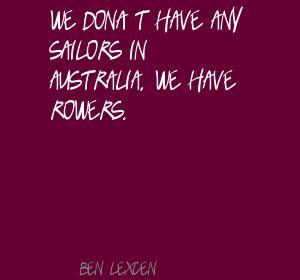 Ben Lexcen's quote #1