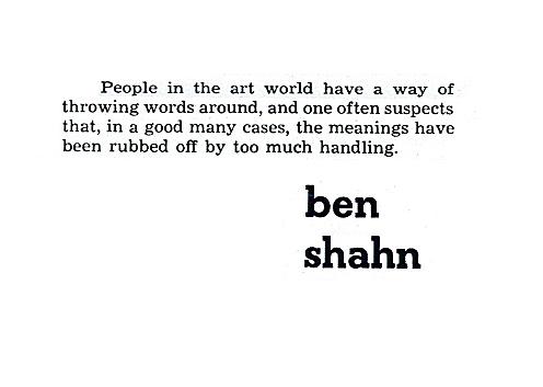 Benjamin Shahn's quote