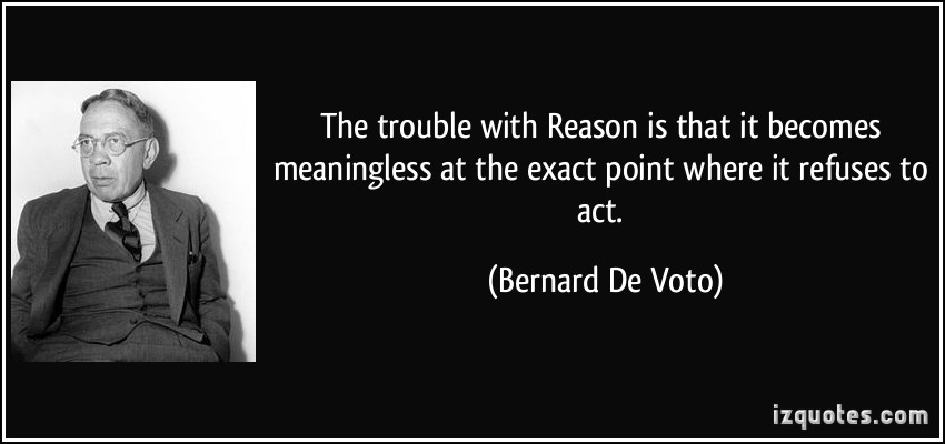 Bernard DeVoto's quote