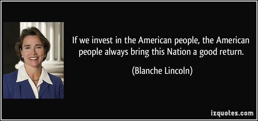 Blanche Lincoln's quote #3