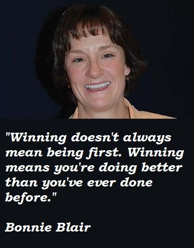 Bonnie Blair's quote #1