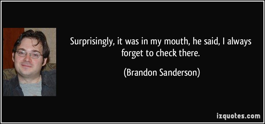 Brandon Sanderson's quote