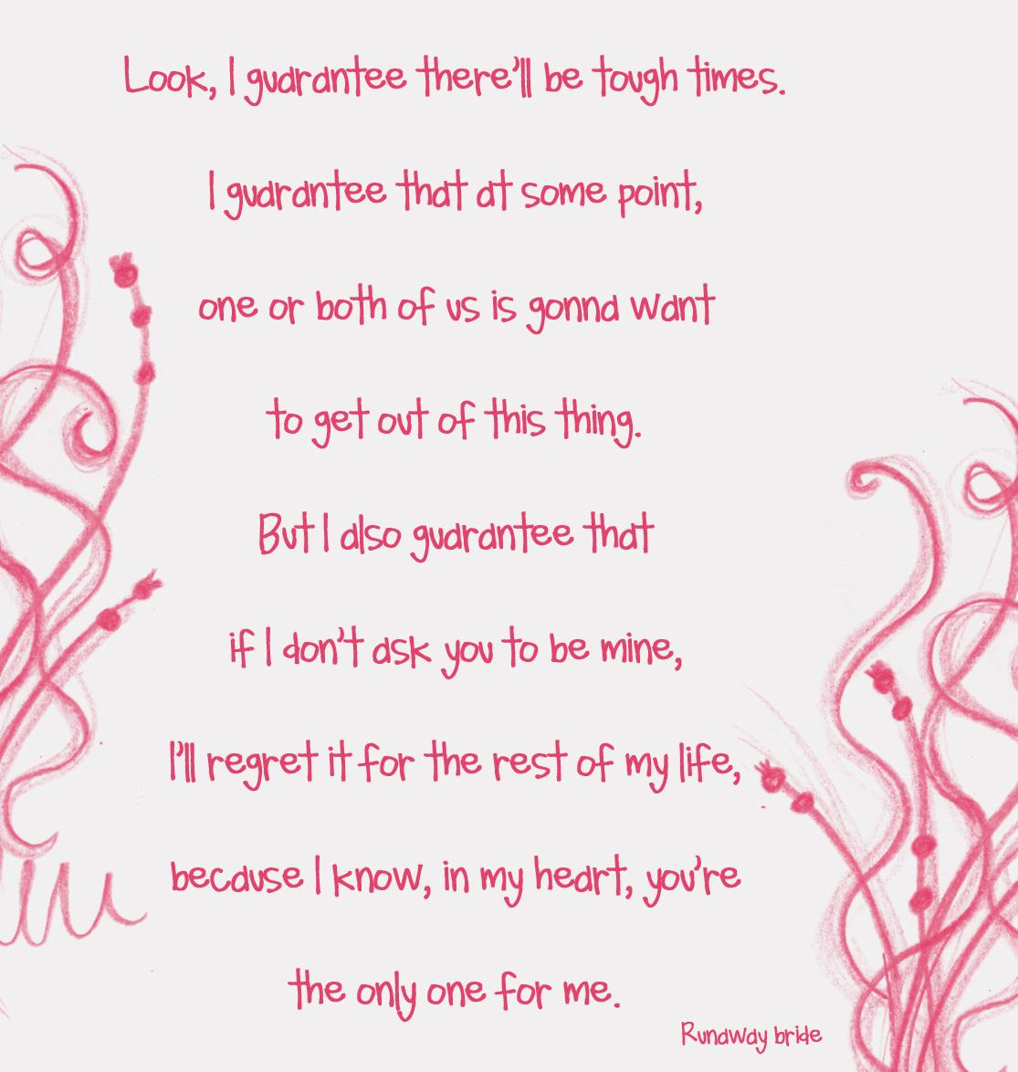 Bride quote #3