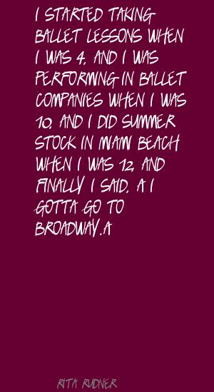 Broadway quote #6