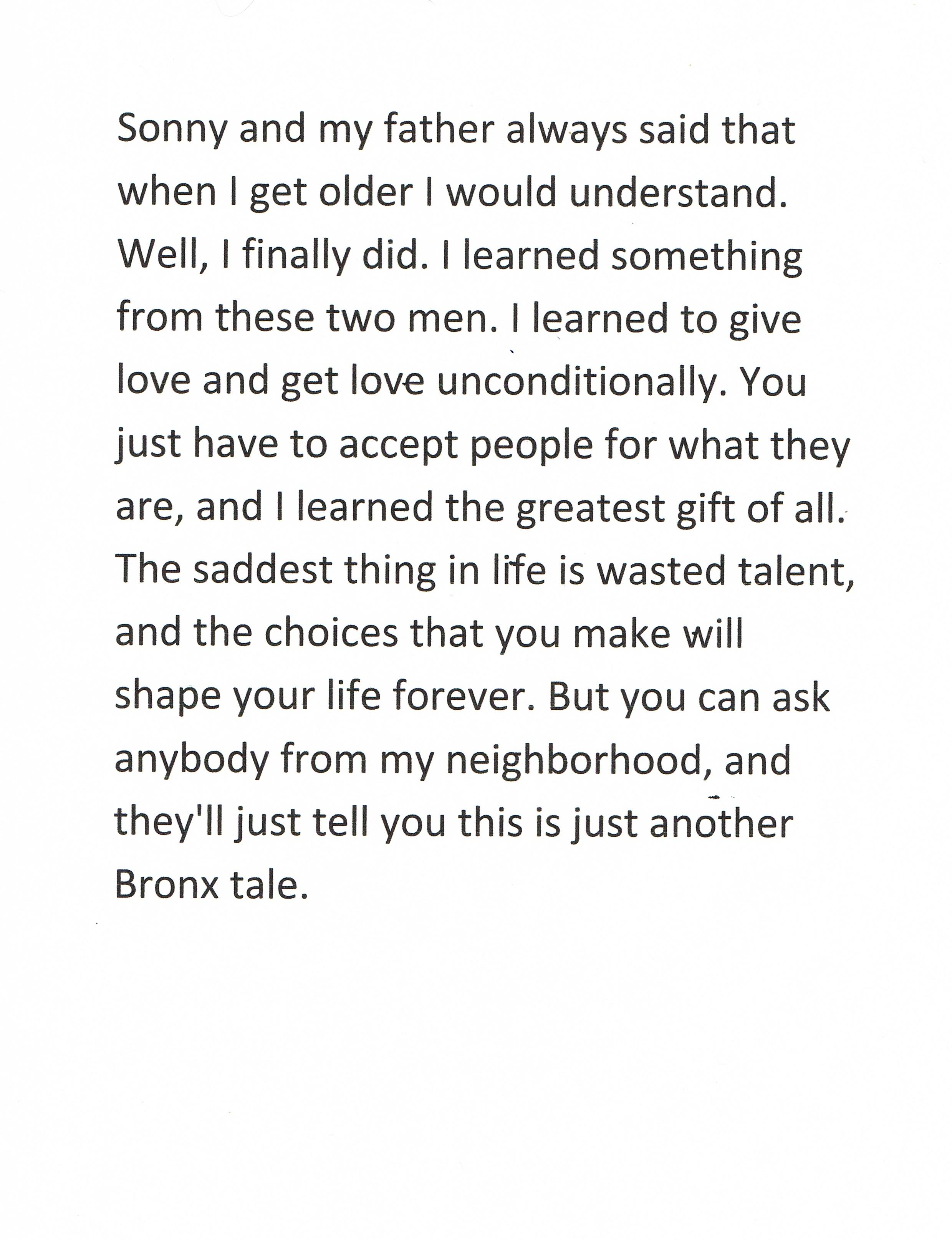 Bronx quote #1
