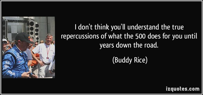 Buddy Rice's quote #2