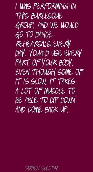 Burlesque quote #1