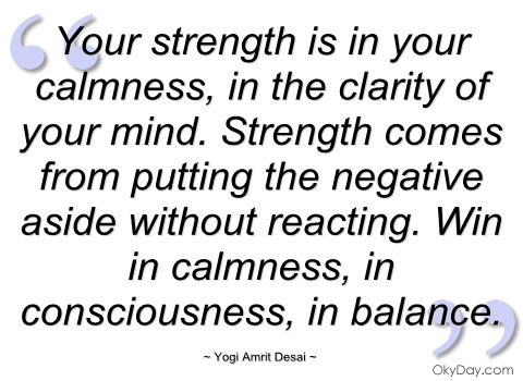 Calmness quote #2