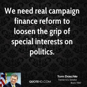 Campaign Finance Reform quote #1