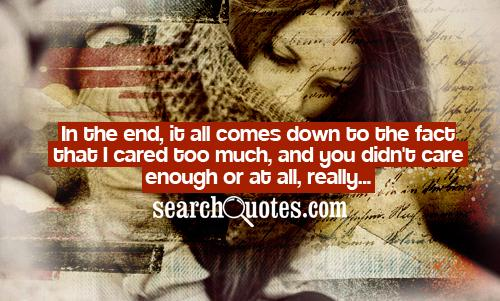Cared quote #6