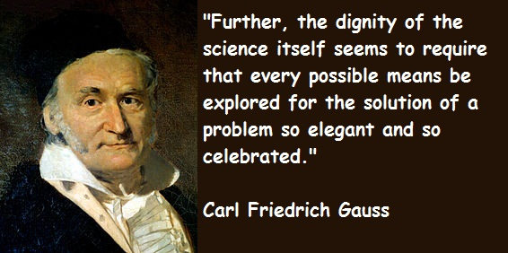 Carl Friedrich Gauss's quote #5