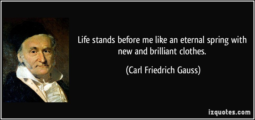 Carl Friedrich Gauss's quote #7