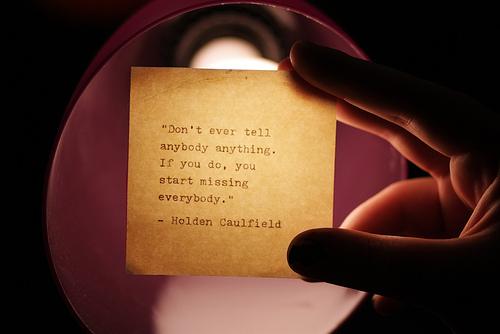 Catcher quote #1