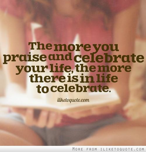 Celebrate quote #5
