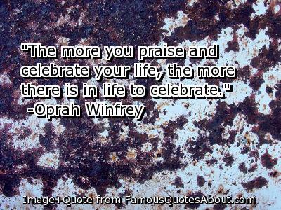 Celebrate quote #1
