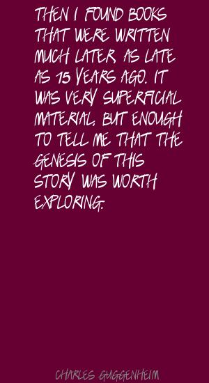 Charles Guggenheim's quote #2
