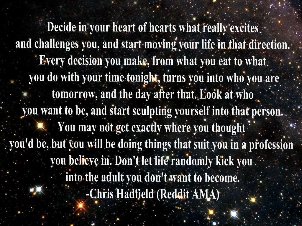 Chris Hadfield's quotes, famous and not much - Sualci Quotes