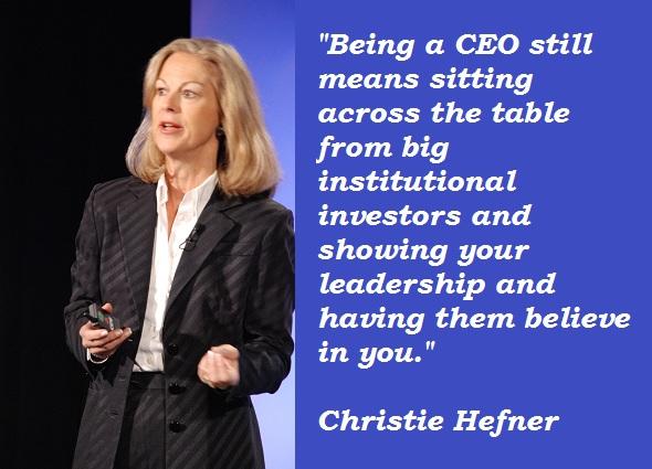 Christie Hefner's quote #7