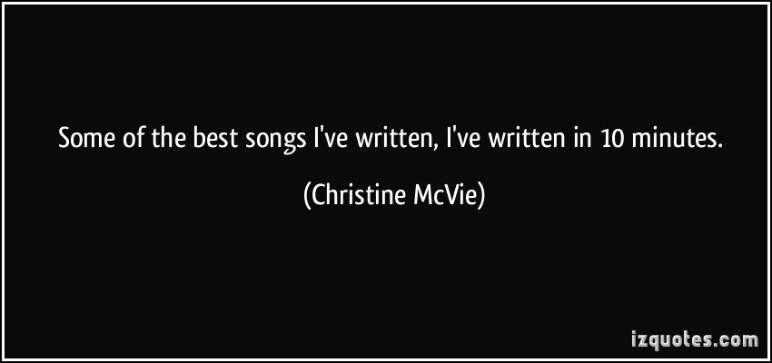 Christine McVie's quote #4